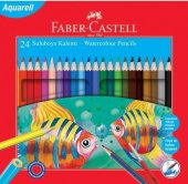 Faber Castell Suluboya Kalemi 24lü Karton Kutu Aquarell