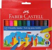 Faber Castell Jumbo 12li Keçeli Kalem