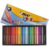 Bic Vısa Yıkanabilir Jumbo Keçeli Boya Kalemi Seti 24 Renk Kutu