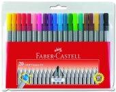 Faber Castell Grip Finepen 0.4mm 20 Renk Poşet
