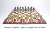 Dev Boy Altın Ve Gümüş Kaplama, İngiliz Malta Şövalyeleri Metal Satranç Takımı 6 Numara, El Yapımı