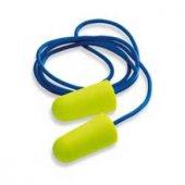 Poliüretan Sünger Kulak Tıkacı, Kullan At , Plastik İpli 100 Adet