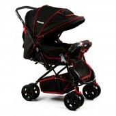 Asyamo Keeper Bebek Arabası Siyah