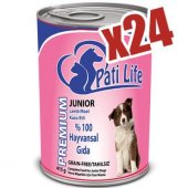 Evform Pati Life 24lü Kuzu Etli Konserve Yaş Köpek Maması 415 Gr