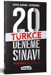 Yediiklim Yayınları 2019 Kpss Genel Yetenek Türkçe Tamamı Çözümlü 20 Deneme Sınavı