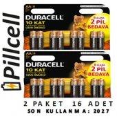 Duracell Alkaline 6+2 Aa Kalem Pil X 2 Paket