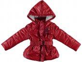 Salıncak Kids Elyaflı Kız Çocuk Mont Kırmızı 4 5 Yaş