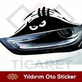 Sinirli Bakan Göz Oto Sticker Sert Bakan Göz Araba...