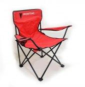 Pontiac Logolu Kırmızı Kamp Sandalyesi