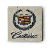 Cadillac Logolu Doğal Limra Taşı Bardak Altlığı