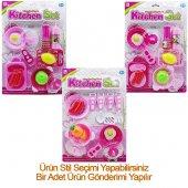 Oyuncak Mutfak Seti Kız Çocuk Evcilik Oyuncak Kartela Mutfak Seti