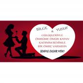 Benimle Evlenirmisin Büyük Kalpli Branda Afisi