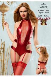 Erotica 23975 Jartiyerli Lame Babydoll