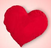 Kalpli Yastık Hediyelik Yastık Baskı İçin Kalpli Y...