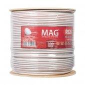 Mag Rg6 U4 0.90 Mm 48*0.12 Tel Ccs Tahta Makaralı Anten Kablosu Y