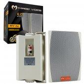 Magıcvoıce Mv 24trf 13 Cm 50 Watt Beyaz Sütun Hoparlör 2li Takım