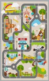 çocuk Halısı Oyun Halısı Anaokulu Halısı Bücür Kids574