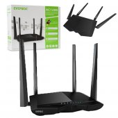 Everest Ewr Ac66 Dual Band 1200 Mbps 4 Port Kablosuz Router