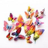 çift Kanatlı Kelebek Özel Kelebekler Yeni Model 3d Duvar Ve Buzdo