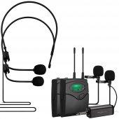 Magıcvoıce Mv 1304yy Uhf 2 Yaka + 2 Headset Kablosuz Telsiz Mikro