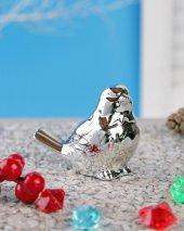 Dekoratif Küçük Gümüş Kuş Dekoratif Obje