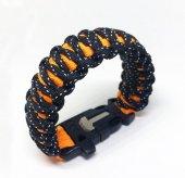 Darkness King Cobra Survival Paracord Bileklik Reflektörlü & Ma