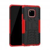 Edelfalke Huawei Mate 20 Pro Hibrit Silikon Kılıf Kırmızı