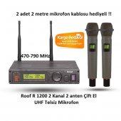 Roof R 1200 El 2 Kanal Çift El Uhf Telsiz Mikrofon