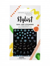 Elegant Touch Stylist Nail Art Stickers Holographic Mix