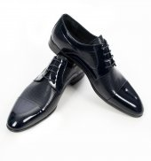 Deepsea Önü Parçalı Rugan Deri Bağcıklı Erkek Klasik Ayakkabı 1907975