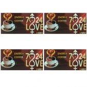 4 Adet 7 24 Love Bay Bayan Unisex Bitkisel Kahve