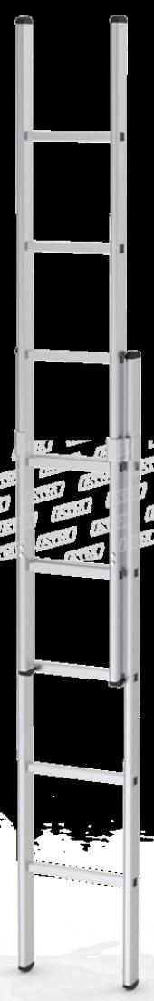 2x2 4 Metre Sürgülü İki Parçalı Alüminyum Sürgülü Merdiven