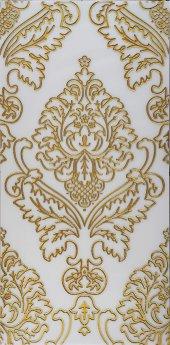 Ba06 Granitto Beyaz Zemin Altın İşlemeli 30x60cm Dekor