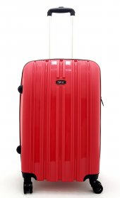 Tutqn Kırmızı Renk Kırılmaz Plastik Orta Boy Valiz...