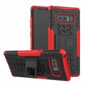 Edelfalke Samsung Galaxy Note 8 Kılıf Hibrit Silikon Kırmızı