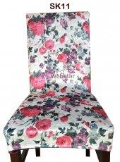 Sandalye Kılıfı Altılı Paket Yıkanabilir Esnek Likralı Kumaş Sandalye Örtüsü Sk11