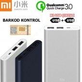 Xiaomi Mi 3.nesil Powerbank 10000 Mah Hızlı Şarj Cihazı