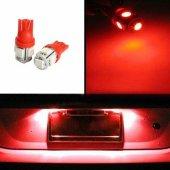 T10 Led 2 Adet Araç Park Lambası Led Kırmızı Işık Dipsiz Ampul