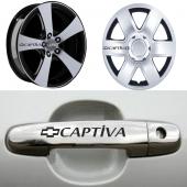 Chevrolet Captiva Kapı Kolu Ve Jantlara 10lu Sticker Set