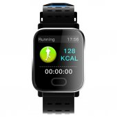 A6 Sport Smart Watch Akıllı Saat Su Geçirmez Mavi