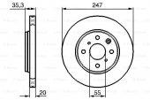 Citroen C1 1.0 Vti 2014 2016 Bosch Ön Fren Diski 2 Adet