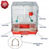 Yopigo Muhabbet Kuş Kafesi Kanarya Kafesi Hediyeli Set 36x30x21