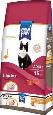 Pawpaw (Paw Paw) Tavuklu Yetişkin Kedi Maması 15 Kg
