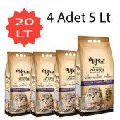 Mycat (5 Lt) 4 Adet Bentonit Kedi Kumu Lavanta Kokulu (İnce Tane