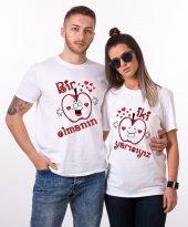 Tshirthane Bir Elmanın İki Yarı Sevgili Kombini Tişörtleri