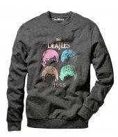 Tshirthane The Beatles 1965 Colors Erkek Uzun Kollu Sweatshirt