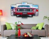 Kırmızı Mustang Dekoratif 5 Parça Mdf Tablo