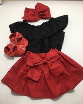Etek Bluz Bandana Takım (Kırmızı Takım)