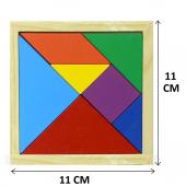 Ahşap Tangram Orta Boy 11x11 (7 Parça)