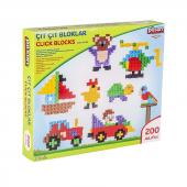 çıt Çıt Bloklar 200pcs Eğitici Lego Oyun Seti...
